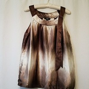 AGB Sleeveless Top in Shades of Brown